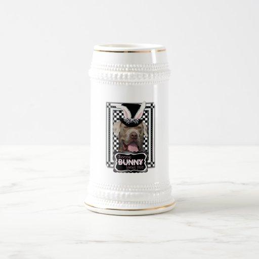 Pascua - algún conejito le ama - mastín taza de café