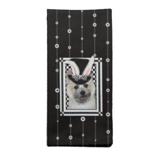 Pascua - algún conejito le ama - mojón Terrier Servilleta De Papel