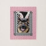 Pascua - algún conejito le ama - pastor alemán rompecabezas