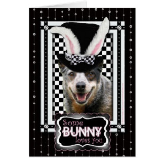 Pascua algún conejito le ama perro australiano del tarjeta de felicitación