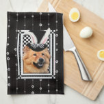 Pascua - algún conejito le ama - perro chino de pe toallas de cocina