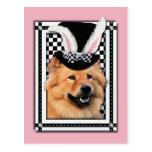 Pascua - algún conejito le ama - perro chino de postal