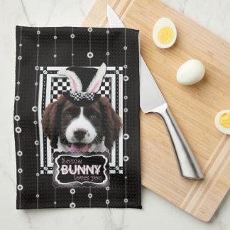 Pascua - algún conejito le ama - perro de aguas de toalla