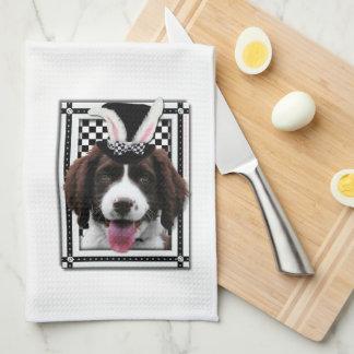 Pascua - algún conejito le ama - perro de aguas de toallas