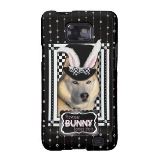 Pascua - algún conejito le ama - perro esquimal samsung galaxy SII carcasa