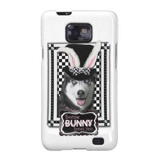 Pascua - algún conejito le ama - perro esquimal samsung galaxy s2 carcasa