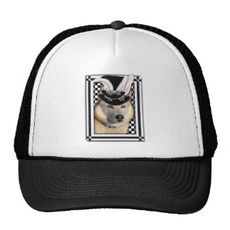 Pascua - algún conejito le ama - perro esquimal gorra