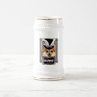 Pascua - algún conejito le ama - Pomeranian Tazas De Café