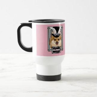 Pascua - algún conejito le ama - Pomeranian Taza De Viaje De Acero Inoxidable