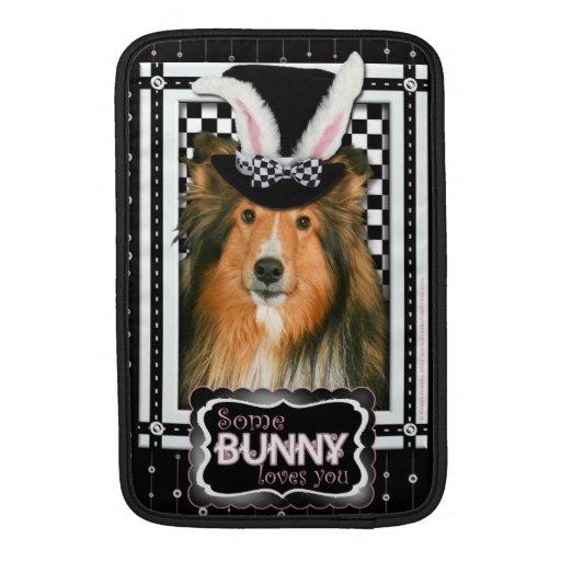 Pascua - algún conejito le ama - Sheltie Fundas MacBook