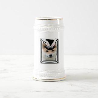 Pascua algún conejito le ama - Shiba Inu Tazas De Café