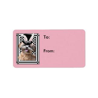 Pascua - algún conejito le ama - ShihPoo Etiquetas De Dirección