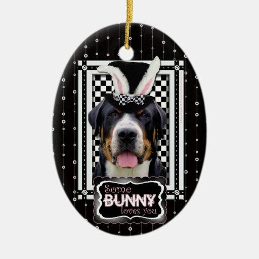 Pascua - algún conejito le ama - Swissie Adorno Ovalado De Cerámica