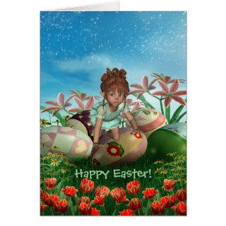Pascua algún conejito le ama tarjeta