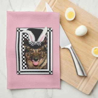 Pascua - algún conejito le ama - Vallhund Toallas