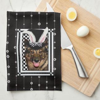 Pascua - algún conejito le ama - Vallhund Toallas De Cocina