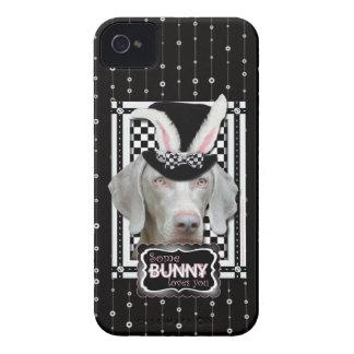 Pascua - algún conejito le ama - Weimaraner Case-Mate iPhone 4 Cárcasas