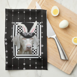 Pascua - algún conejito le ama - Weimaraner Toalla