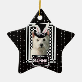 Pascua - algún conejito le ama - Westie Adorno De Reyes