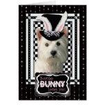 Pascua - algún conejito le ama - Westie Felicitacion