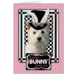 Pascua - algún conejito le ama - Westie Tarjetas