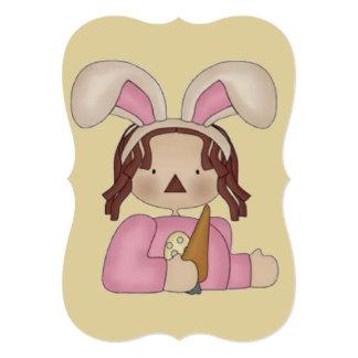 """Pascua Annie con la zanahoria Invitación 5"""" X 7"""""""