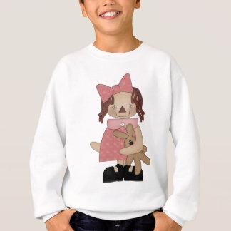 Pascua Annie que ama un oso de peluche Sudadera