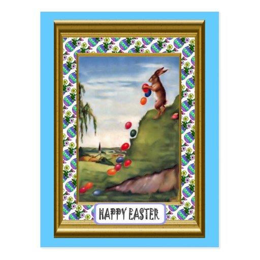 Pascua - balanceo del huevo postales