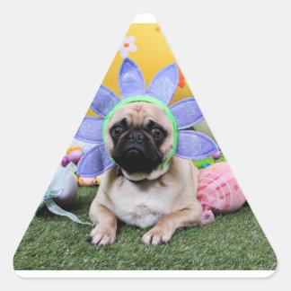 Pascua - barro amasado - Louie Pegatina Triangular
