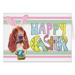 Pascua Basset Hound Felicitación