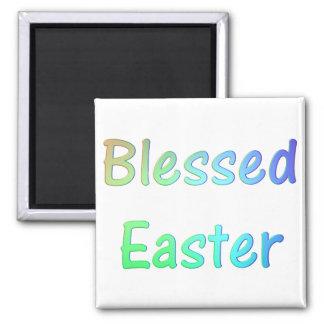 Pascua bendecida 3 imán cuadrado