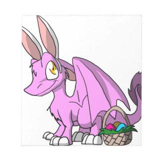 Pascua Bubblegum/dragón peludo rosado del SD Blocs De Papel