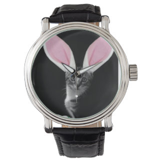 Pascua Bunnycat Relojes De Pulsera