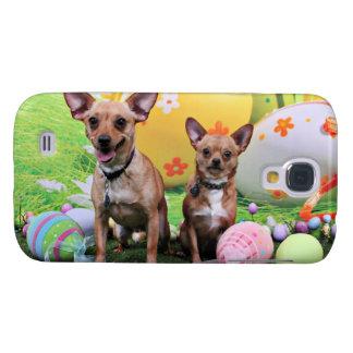 Pascua - Chipin Rockwell - chihuahua Rambo - Mahne Funda Para Galaxy S4