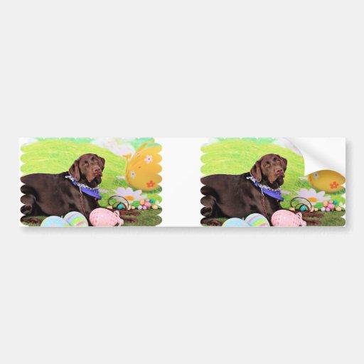 Pascua - chocolate Labrador - Hershey Pegatina Para Auto