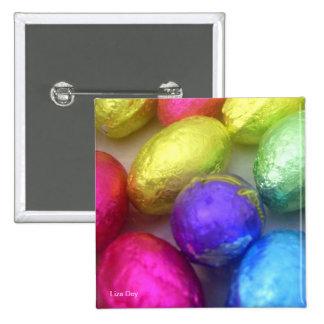 """""""Pascua colorea"""" el botón cuadrado Pins"""