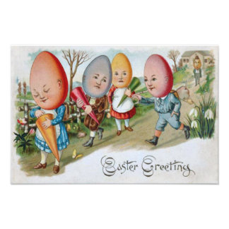 Pascua coloreó el lirio pintado de la gente del hu fotografías
