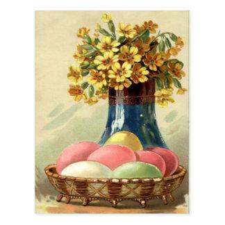 Pascua coloreó la margarita pintada del amarillo postal