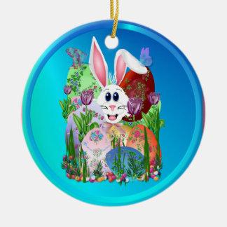 ¡Pascua!  Consiga en ella… los ornamentos Adorno Navideño Redondo De Cerámica