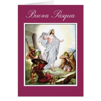 Pascua cristiana italiana Jesús Buona Pasqua Tarjetón