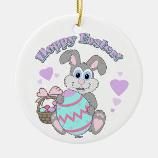 ¡Pascua de lúpulo! Conejito de pascua Ornamente De Reyes