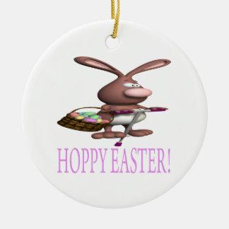 Pascua de lúpulo adorno redondo de cerámica