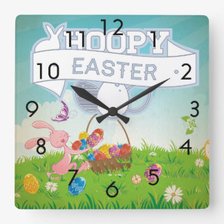 Pascua de lúpulo reloj cuadrado