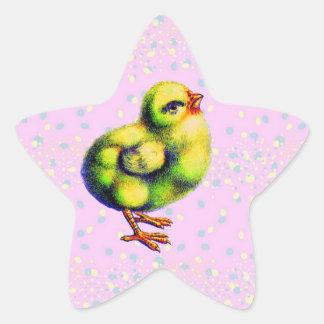 Pascua de poco pío calcomanías forma de estrella
