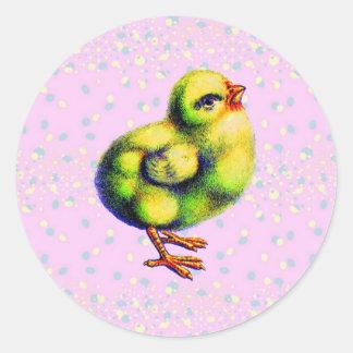 Pascua de poco pío pegatinas redondas