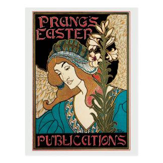 Pascua de Prang del nouveau del arte del vintage Postales