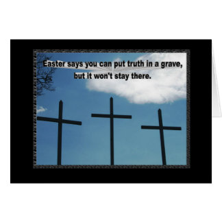 Pascua dice que la verdad no permanecerá en un sep tarjeta de felicitación