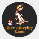 Pascua en el funcionamiento pegatina redonda