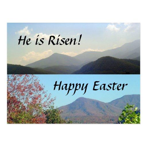 Pascua en las montañas postal