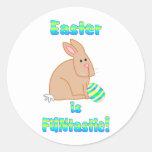Pascua es Funtastic Etiquetas Redondas